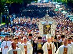 Procession on the Day of our Miracle Lady in Sinj on August 15th