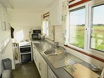Kitchen with countryside views