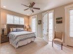 2nd Floor Master Bedroom with Door to Balcony