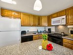 Large Kitchen with Full Size Appliances,  Range, Refrigerator and Freezer, Dish Washer, Microwave