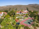^ Bedroom Tennis Ranch Aerial View