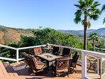 Patio  with seating overlooking the view with BBQ & Fire Pit