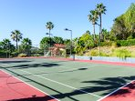 Private Tennis Court with Basket Ball Hoop, Bicycles & Tricycles