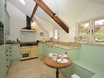 Country kitchen with views across the garden