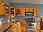 Stainless steel appliances make cooking a breeze!