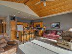 Unwind in the spacious living room after each adventure.