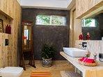 Bathroom with modern amenities