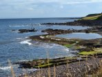 Crail coastline & rock pool.