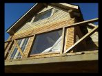 Entire upper floor of  house with large attics.  Front and side windows have ocean views.