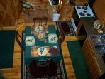 Cherokee Rose_Dining Area w Fully Equipped Kitchen