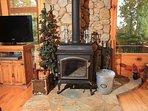 Sunset Ledge_Wood Burning Fireplace_Enchanted Mountain Retreats