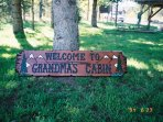 Welcome to Grandma's Cabin, Island Park, Idaho