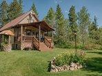 Grandma's Cabin Yard, Island Park, Idaho