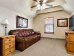 Optional Studio Suite, refrigerator, microwave, satellite TV & leather queen size hide-a-bed couch