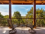 Beautiful Hill Country views from the elevated deck.