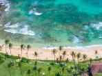 Aerial of Kiahuna Beach