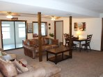 Spacious and comfortable downstairs living area with room for the entire family!!