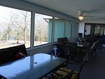 Screened porch with seating for 14.  Relax with the panoramic views!!!!