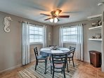 Enjoy home-cooked meals around the dining room table, with seating for 4.