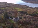 An autumnal view across to Loch Shin