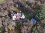 The bird's eye view of the lodge