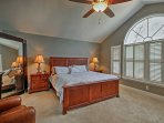 Find the master bedroom just off the living area.