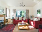 Sitting Room in May Lodge comfortably seats 6 persons.