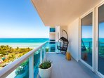 ' Furnished balcony admire the fantastic South Beach View '
