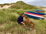 Riley and me on a day out on Beadnell Beach.
