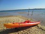 Kayak para dos adultos y un niño