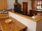 The well equipped kitchen also has a breakfast area