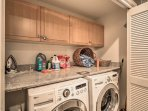 Keep clothes looking picture perfect when you use these in-unit laundry machines.