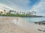 Take the provided beach gear and club card to the beach at just Mauna Lani, just a 4-minute drive away!