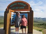Carl and Sandra (your hosts) 7 yrs. ago on their 2-yr. RV honeymoon adventure.Ever waltz on tundra?