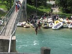Rafting organizes several agencies near the house - a picture from the Bohinjka River