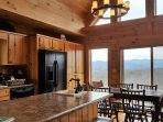 Beautiful Blue Ridge Mountain views while preparing food in our full kitchen