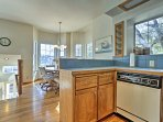 Make yourself at home as you cook in the fully equipped kitchen.