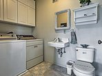 Laundry machines keep your clothes fresh throughout your stay.