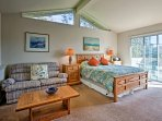 The master bedroom is a private oasis filled with warm natural light.