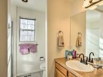 Two bathrooms provide plenty or privacy.
