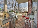 The back deck is great for morning coffee or breakfast.