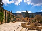 A short walk from the peace and tranquility of the Agios Neophytos Monastery.