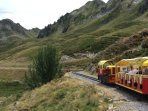 In summer you can take a trip through the mountains on the Petit Train Artouste