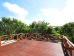 Great spacious sun deck on the upper floor - great for morning yoga or evening cocktails
