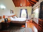 The spacious master bedroom