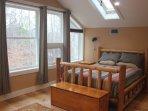 Queen Log bed with foam mattress