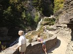 Lucifer Falls at Robert Treman State Park, 1 1/2 miles from Mallard...