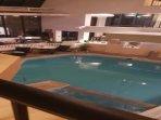 Pool/Hot Tub at night