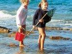 Vous prendrez un bon bol d'air iodé lors d'un pêche à pieds ! petits et grands se régaleront !