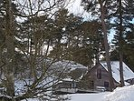 Woodburn Lodge nestling in the snow!